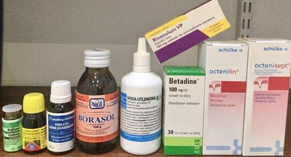 Środki antyseptyczne i odkażające cz.3: Związki srebra i boru, fiolet i nadmanganian potasu