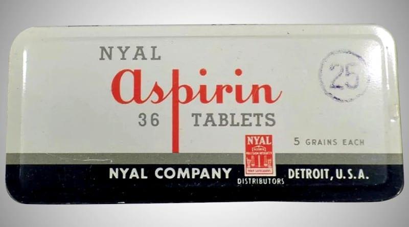 Aspiryna w dawce 5 granów.