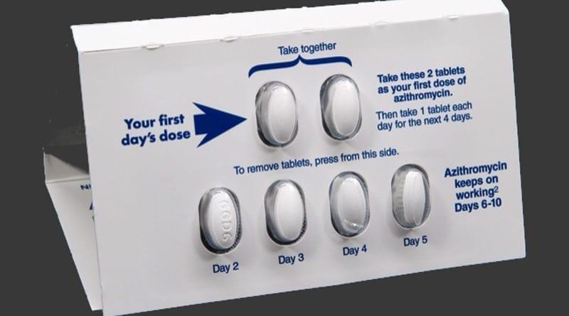 Tabletki z azytromycyną.