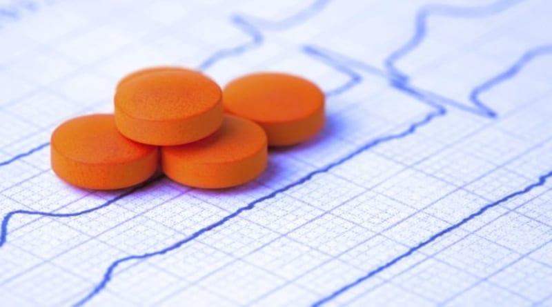 Tabletki z beta-adrenolitykiem.