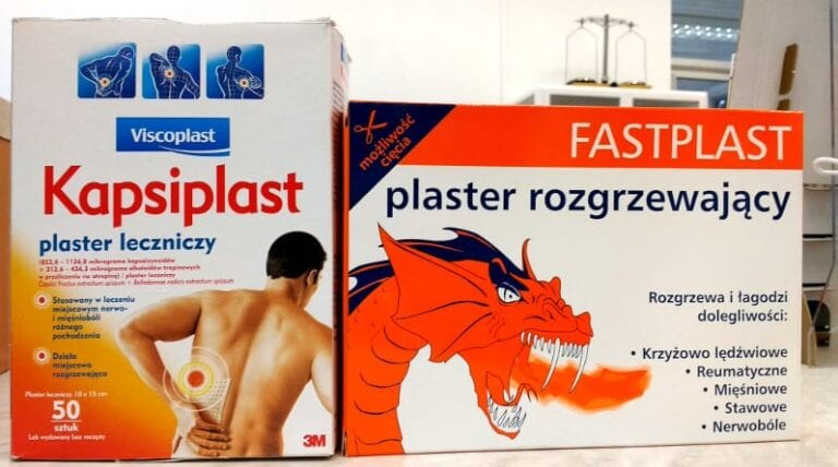 Opakowanie Kapsiplast i Fastplast.
