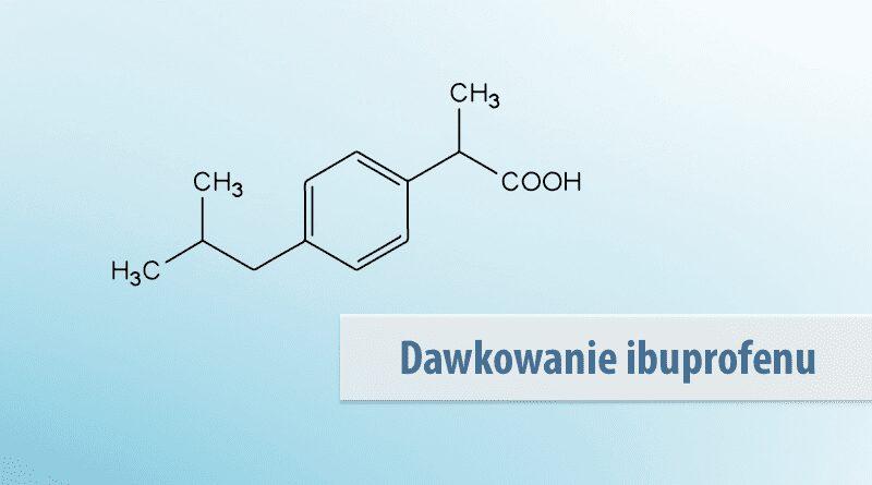 Wzór strukturalny ibuprofenu.