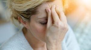 Pacjent z migreną.