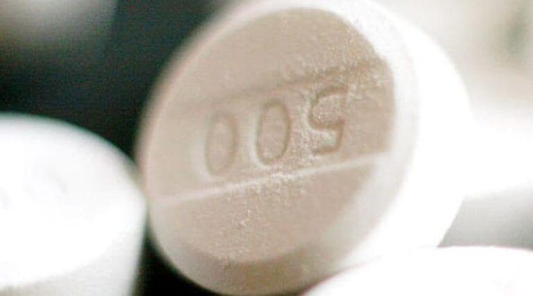 Tabletka z paracetamolem.
