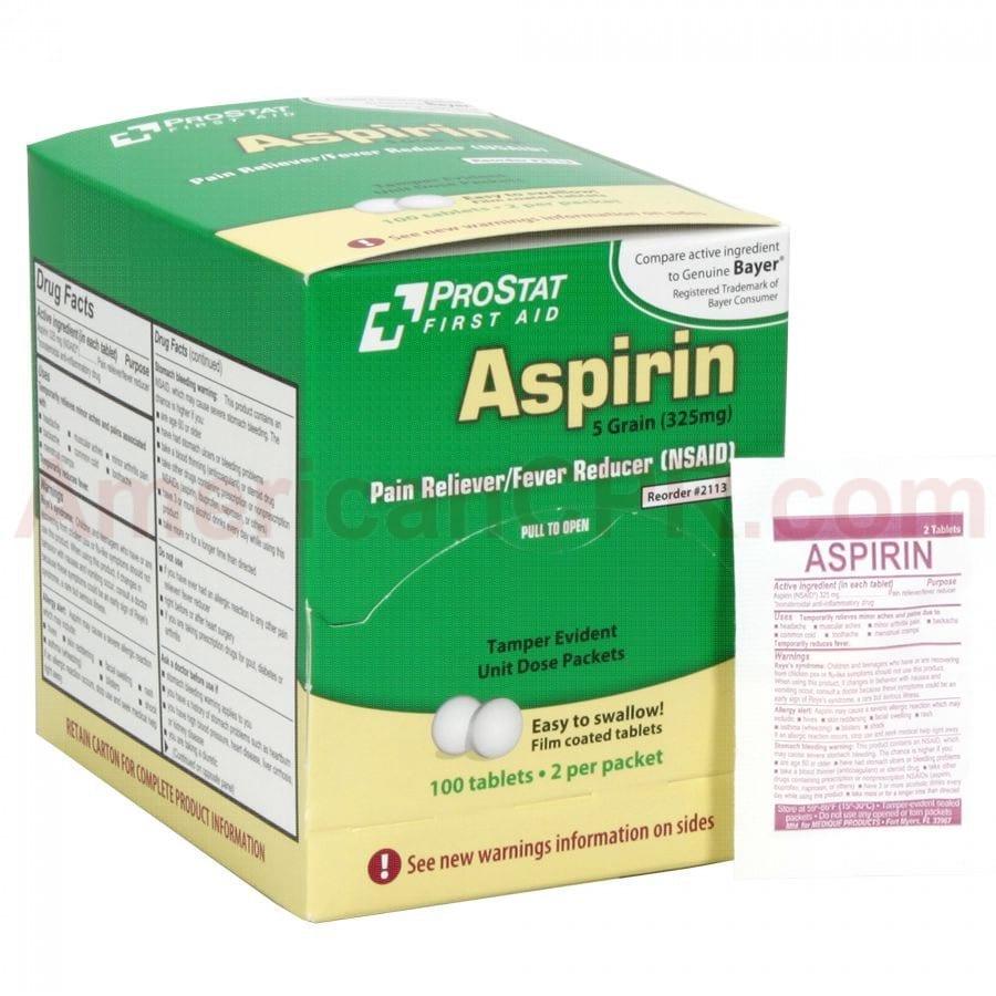 Współczesna 5 granowa aspiryna - 5 Grain (325 mg).