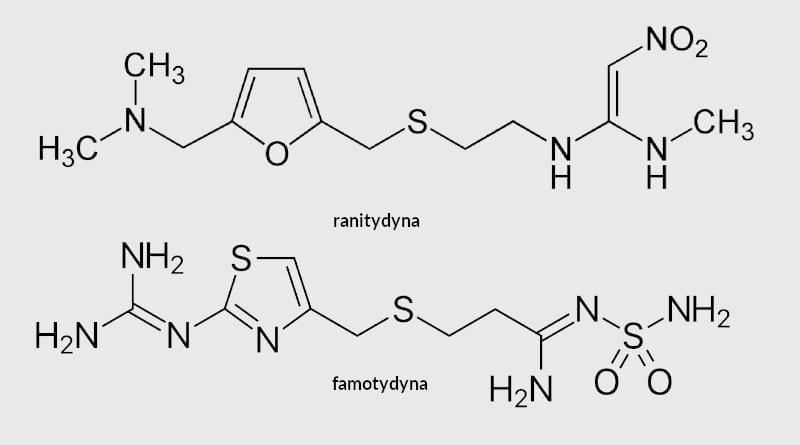 Famotydyna działa 7,5 razy silniej od ranitydyny