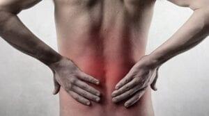 Pacjent z bólem kręgosłupa.