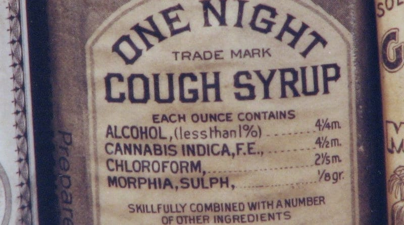 Syrop na kaszel z morfiną.