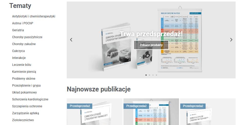 Nowa strona Wydawnictwa Farmaceutycznego