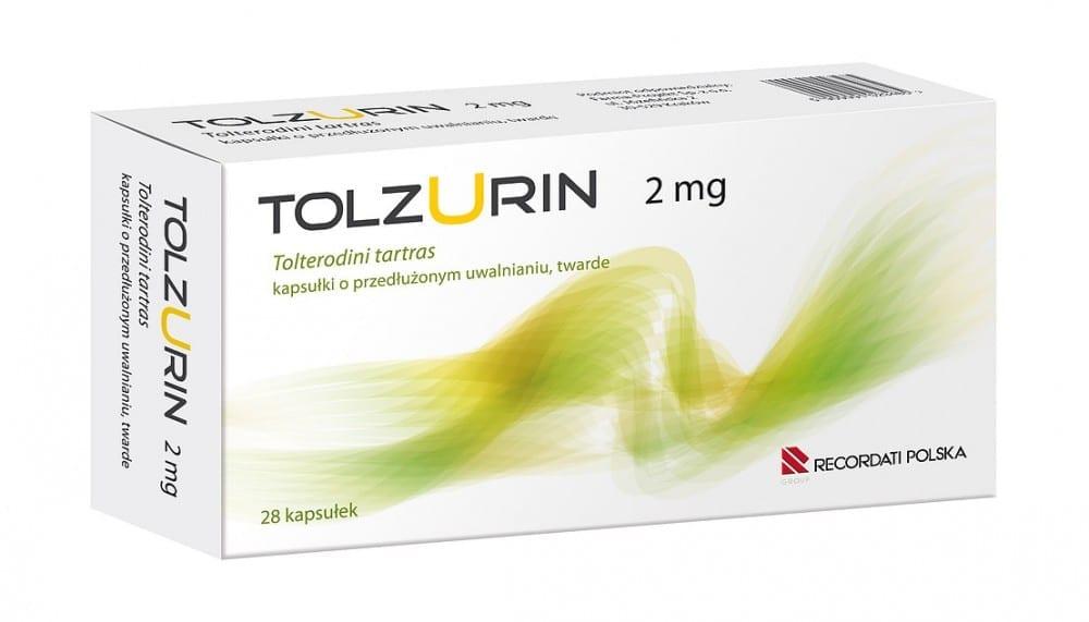 Tolzurin - Tolterodyna o przedłużonym uwalnianiu.