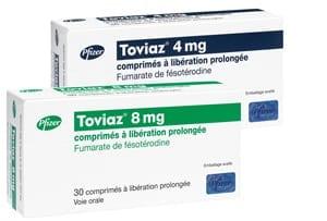 Toviaz (fesoterodyna) występuje w dawkach 4 i 8mg.
