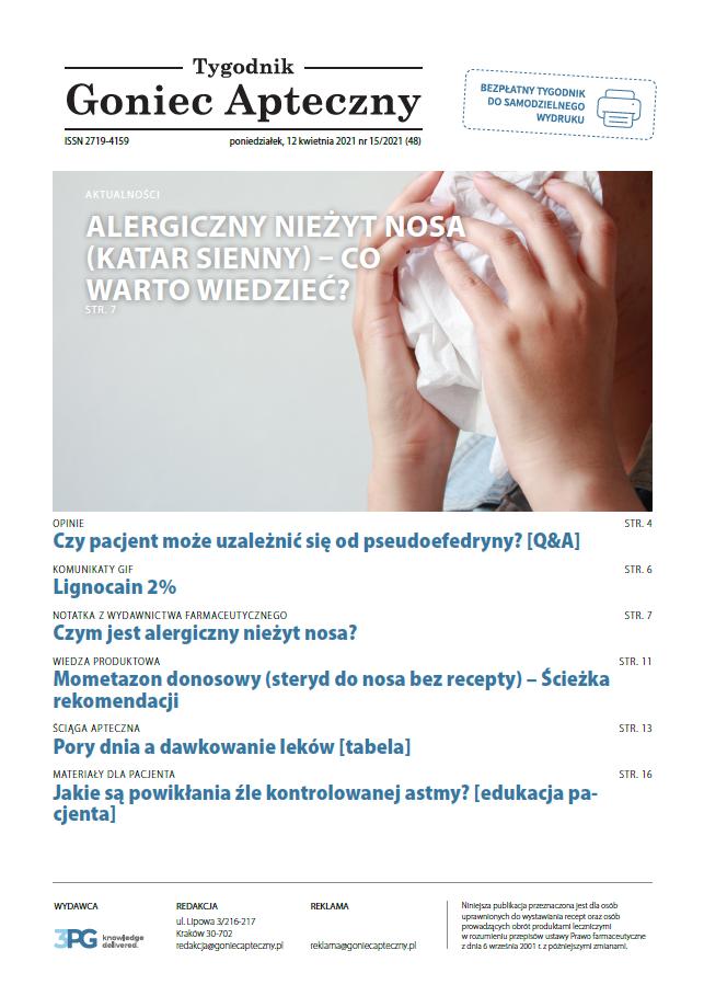 Goniec Apteczny 15/2021 (48)