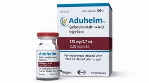 Przeciwciało monoklonalne aducanumab (Aduhelm).