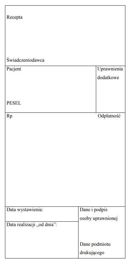 Wzór recepty papierowej.